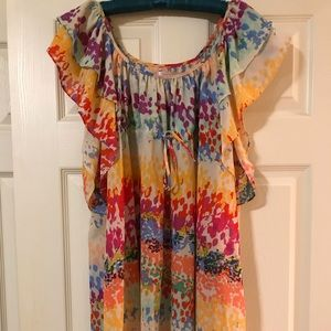 H&M Garden Collection Size 6 Floral Colorful Dress
